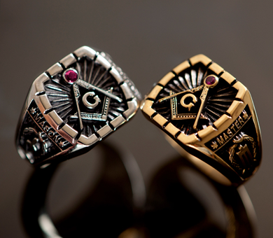 Mason rings, fraternity rings, family crest, class rings, batch rings, college rings, school rings.